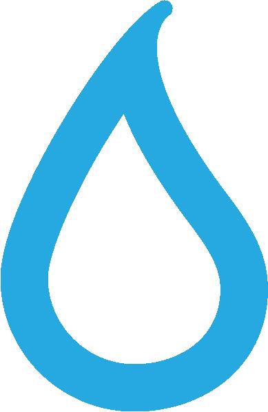Blue waterdoplet
